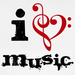 I love music T-Shirts - Baseballkappe