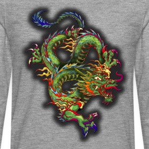 dragon half stone v1 by Dk - T-shirt manches longues Premium Homme