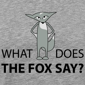 what does the fox say  Long sleeve shirts - Men's Premium T-Shirt
