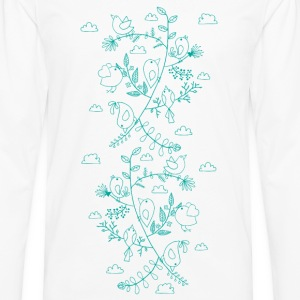 Birds and leaves - Männer Premium Langarmshirt