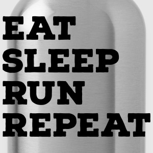 Eat, Sleep, Run, Repeat T-skjorter - Drikkeflaske
