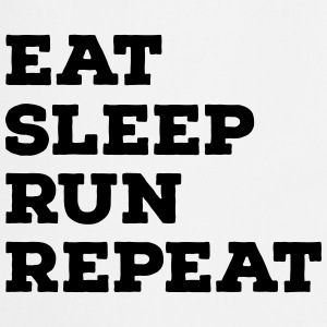 Eat, Sleep, Run, Repeat T-shirts - Forklæde