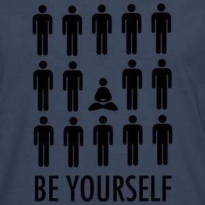 Be Yourself (Meditation) T-Shirts - Männer Premium Langarmshirt