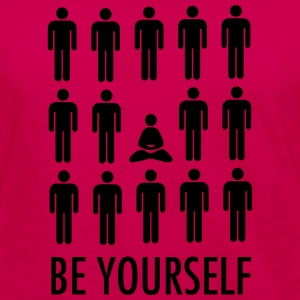Be Yourself (Meditation) T-shirts - Dame premium T-shirt med lange ærmer