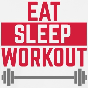 Eat Sleep Workout  Schürzen - Männer Premium T-Shirt