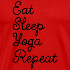 Eat, Sleep, Yoga, Repeat Canotte - Maglietta Premium da uomo
