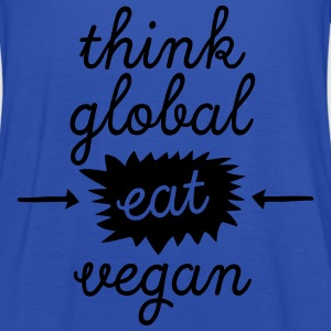 Think Global, Eat Vegan T-Shirts - Frauen Tank Top von Bella