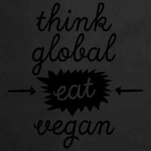 Think Global, Eat Vegan Koszulki - Fartuch kuchenny