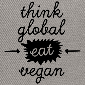 Think Global, Eat Vegan T-shirts - Snapback Cap