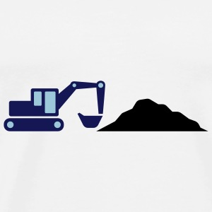 Excavator on a construction site Accessories - Men's Premium T-Shirt
