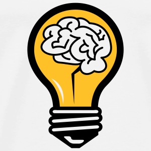 Light bulb with a brain Shirts - Men's Premium T-Shirt