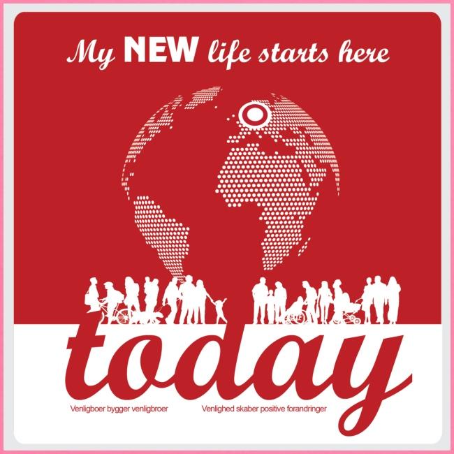 Mens Tshirt. - My NEW life starts today