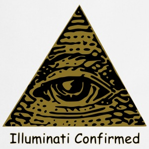 Illuminati Confirmed Meme T-Shirt (Black&White) - Cooking Apron