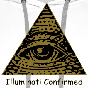 Illuminati Confirmed Meme T-Shirt (Black&White) - Men's Premium Hoodie