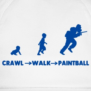 MTeVrede_CRAW-WALK-PAINTBALL T-Shirts - Baseball Cap