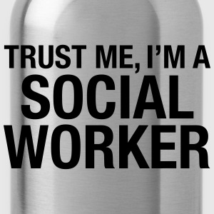 Trust Me I'm A Social Worker Long sleeve shirts - Water Bottle