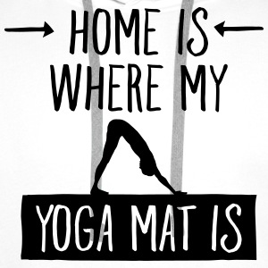 Home Is Where My Yoga Mat Is Förkläden - Premiumluvtröja herr