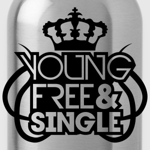 Young Free And Single Krone König Königin Tribal C T-Shirts - Water Bottle