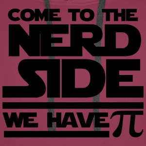 Dark pink Come to the nerd side T-Shirts - Men's Premium Hoodie