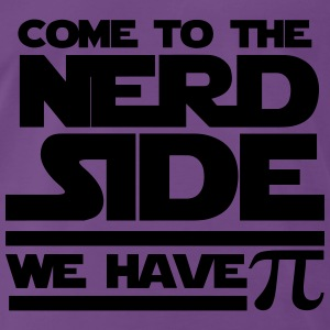 Purple Come to the nerd side Tops - Men's Premium T-Shirt