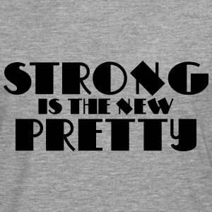 Strong is the new pretty Gensere - Premium langermet T-skjorte for menn