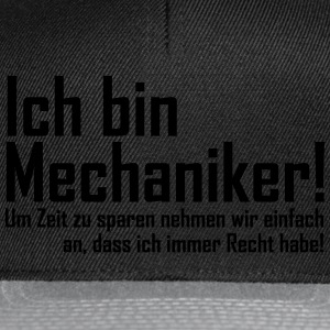 mechaniker T-Shirts - Snapback Cap