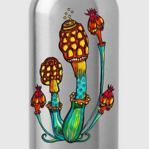 Magic Mushrooms, Psychedelic, Goa, Trance, Rave Other - Water Bottle