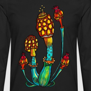 Magic Mushrooms, Psychedelic, Goa, Trance, Rave Other - Men's Premium Longsleeve Shirt