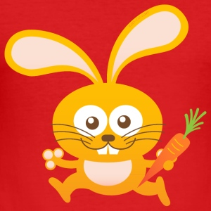 Smiling Little Bunny Long Sleeve Shirts - Men's Slim Fit T-Shirt