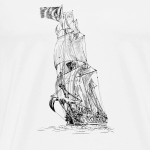 sailing ship Tops - Men's Premium T-Shirt