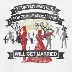 Wedding - My partner for Zombie Apocalypse - Männer Premium T-Shirt