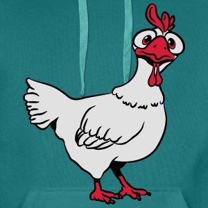Stupid funny chicken T-Shirts - Men's Premium Hoodie