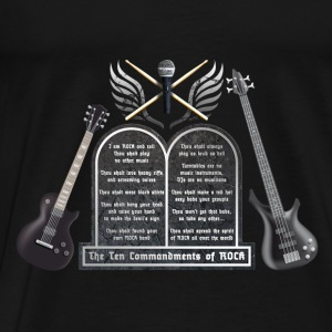 ten_commandments_of_rock_c Baby Bodys - Männer Premium T-Shirt