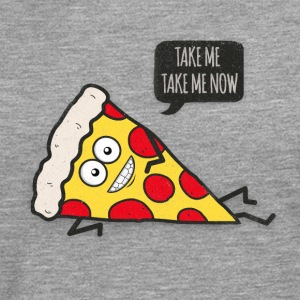 Funny Cartoon Pizza - Statement / Funny / Quote Tee shirts - T-shirt manches longues Premium Homme