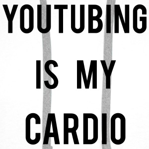 Youtubing IS CARDIO T-shirts - Premiumluvtröja herr