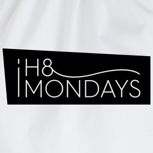I Hate Mondays (White version) - Drawstring Bag