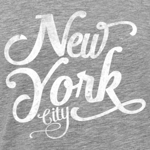 New York City typografi Toppe - Herre premium T-shirt