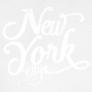 New York City typografi Skjorter - Baseballcap