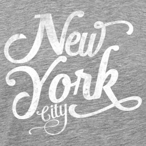 New York City typografi Tanktoppar - Premium-T-shirt herr