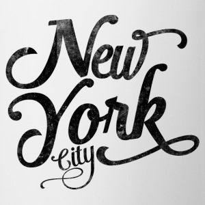 New York City typografi Skjorter - Kopp