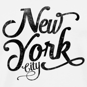 New York City typografi Knappar - Premium-T-shirt herr