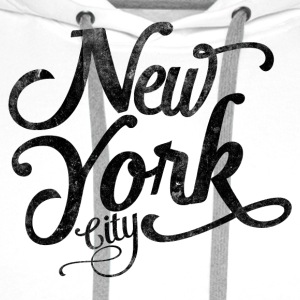 New York City typografi Skjorter - Premium hettegenser for menn