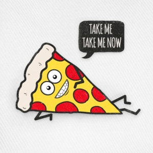 Funny Cartoon Pizza - Statement / Funny / Quote  Aprons - Baseball Cap