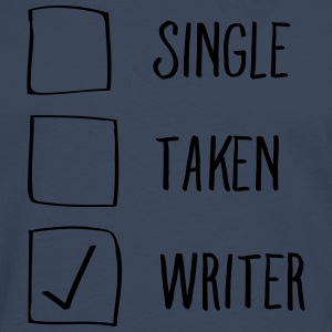 Single, Taken, Writer T-skjorter - Premium langermet T-skjorte for menn