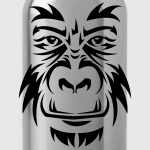 Gorilla Face Tribal T-Shirts - Trinkflasche