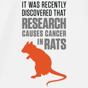 Research increases the risk of cancer in rats Accessories - Men's Premium T-Shirt