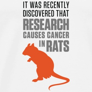 Research increases the risk of cancer in rats Shirts - Men's Premium T-Shirt
