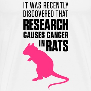 Research increases the risk of cancer in rats Hoodies - Men's Premium T-Shirt