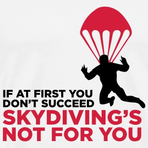Skydiving er ikke for de uheldige! Tank Tops - Herre premium T-shirt