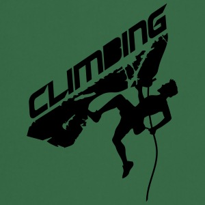 Cracks climbing rope man climbing logo T-Shirts - Cooking Apron